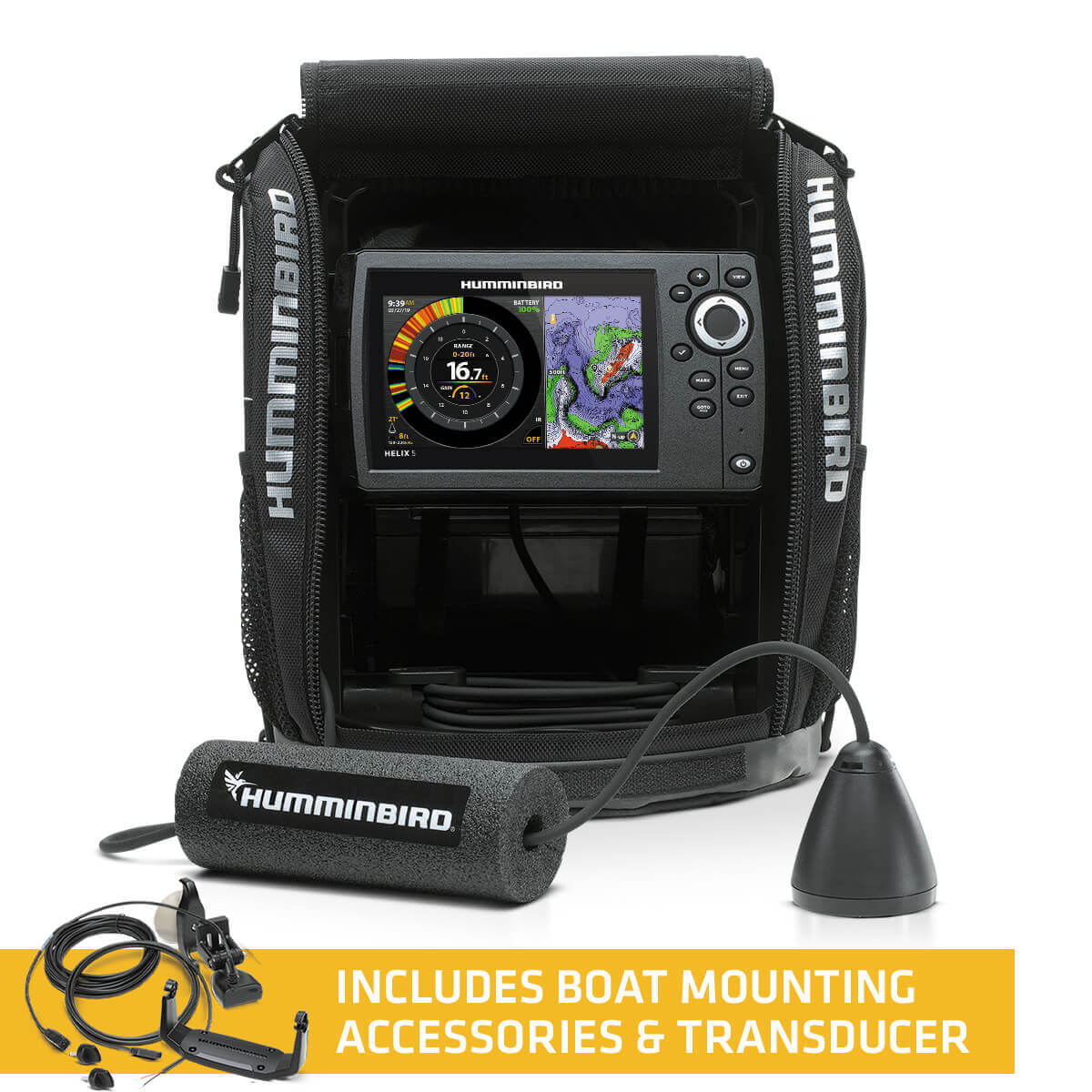 Humminbird 411190-1 ICE HELIX 5 CHIRP/GPS G2 All Season Bundle