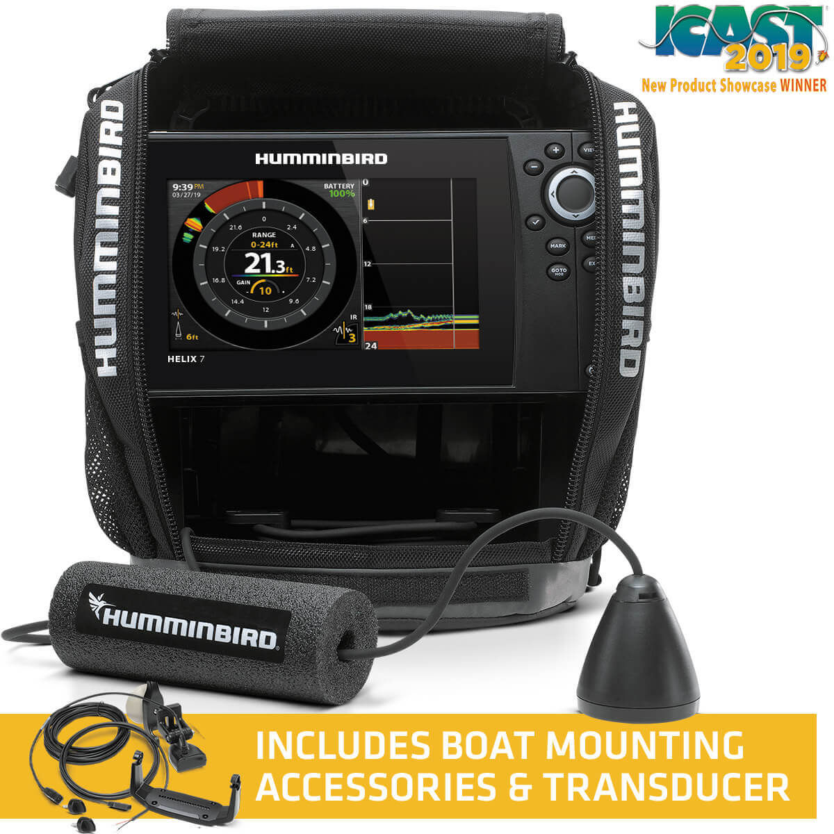 Humminbird 411210-1 Helix 7 Chirp G3N, Ice Sonar GPS System All-Season Kit